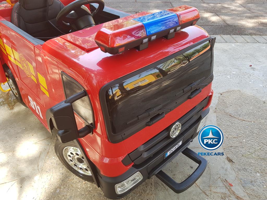 Camion infantil de bomberos 12V Rojo