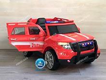 coche electrico jefe de bomberos rojo 12v-000