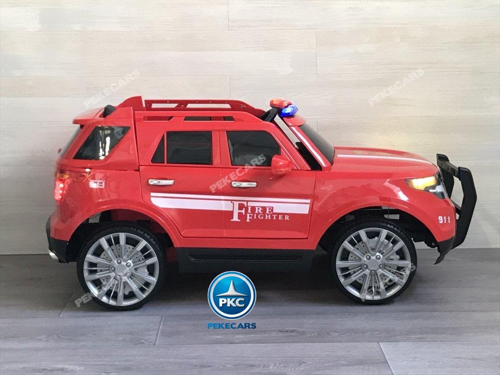 coche electrico jefe de bomberos rojo 12v-001