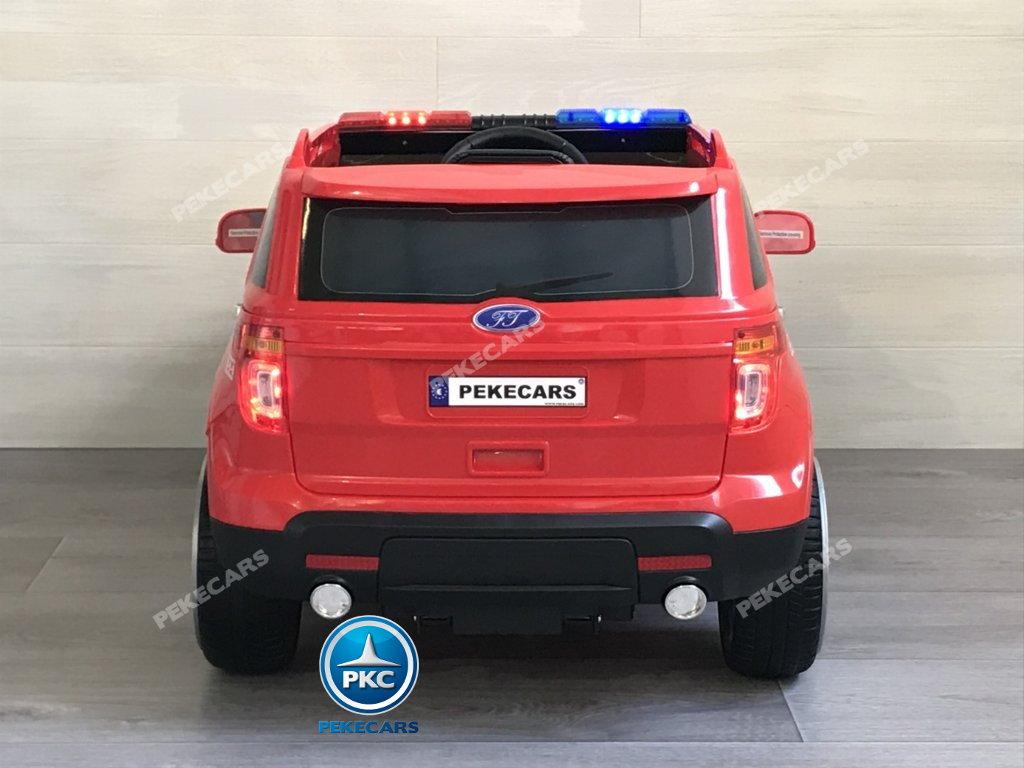 coche electrico jefe de bomberos rojo 12v-002