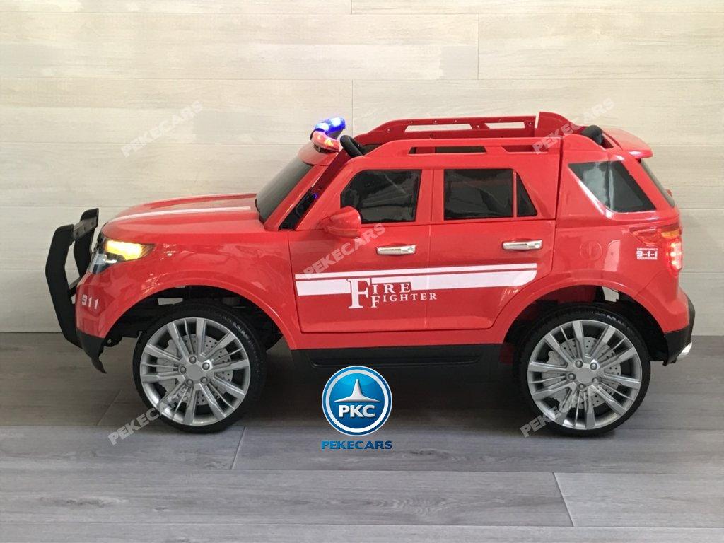 coche electrico jefe de bomberos rojo 12v-003