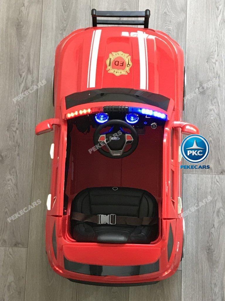 coche electrico jefe de bomberos rojo 12v-007