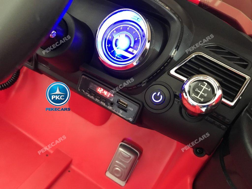 coche electrico jefe de bomberos rojo 12v-012