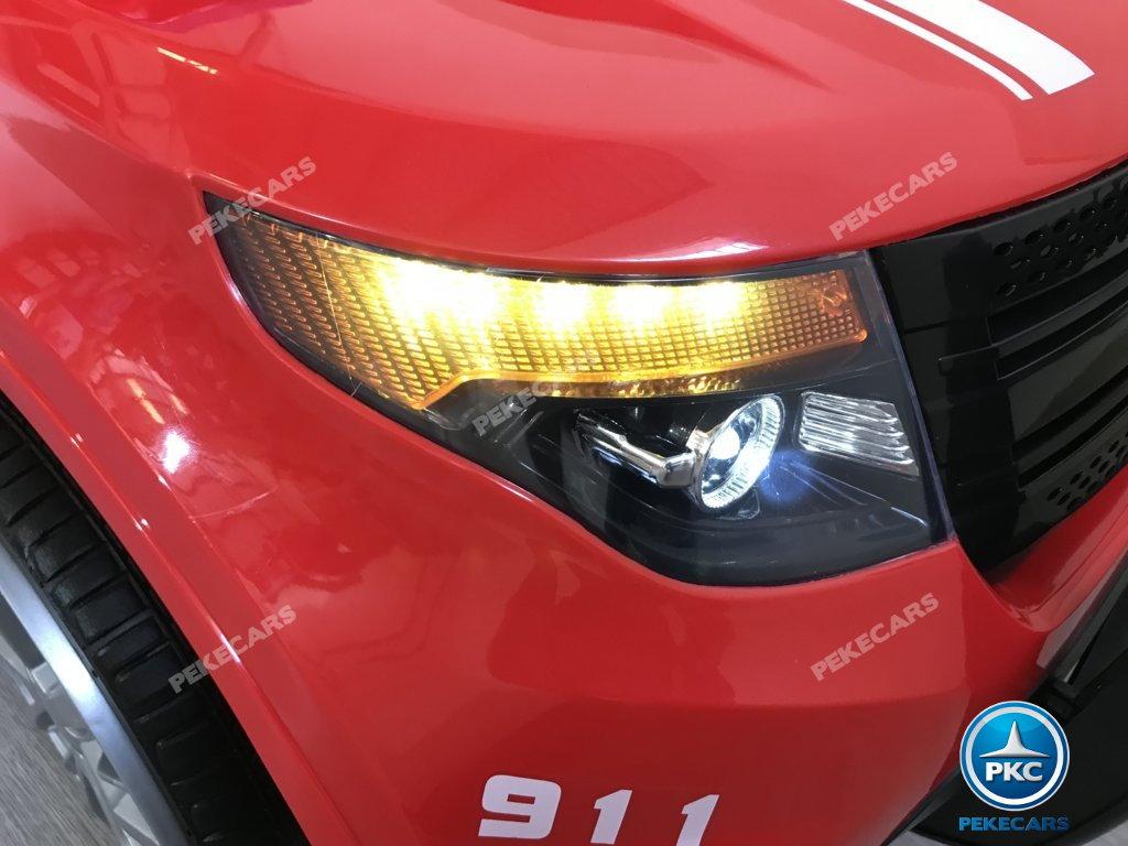 coche electrico jefe de bomberos rojo 12v-014