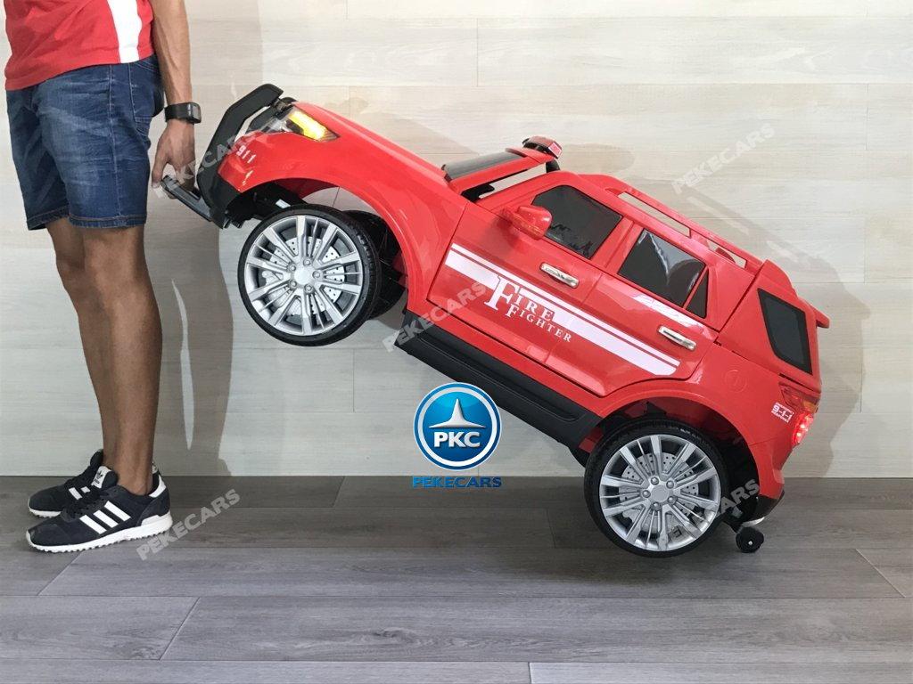 coche electrico jefe de bomberos rojo 12v-017