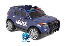 Pekecars Coche Electrico De Policia Azul 12V-002