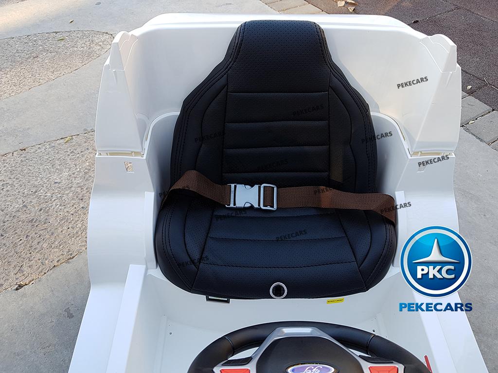 pekecars coche eléctrico de policía blanco 12v-009