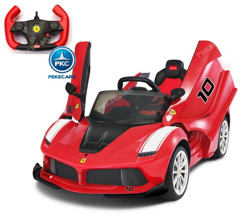 Coche electrico para niños Ferrari FXX-K Rojo Pintado vista principal width=