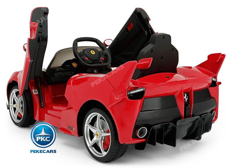 Coche electrico para niños Ferrari FXX-K Rojo Pintado con apertura de puertas width=