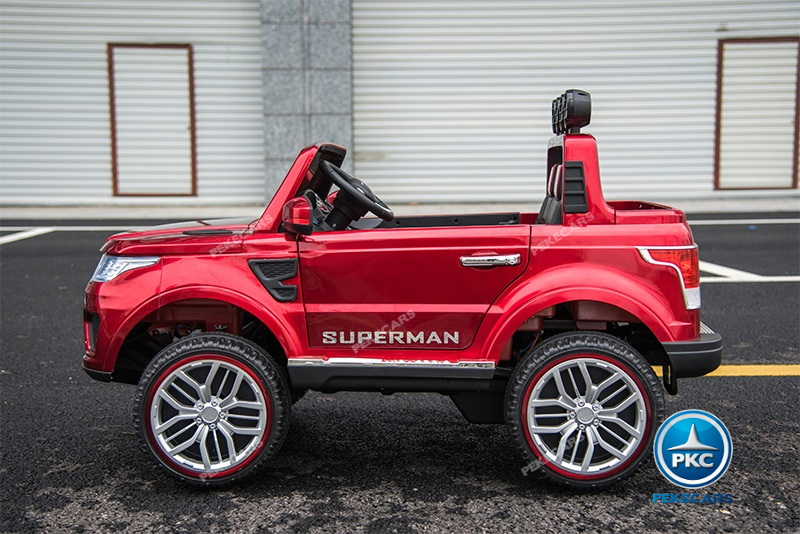 Jeep superluxe rojo metalizado
