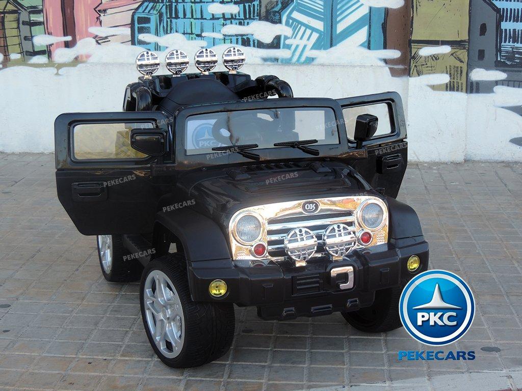 COCHE ELECTRICO JEEP WRANGLER 12V NEGRO FRONTAL