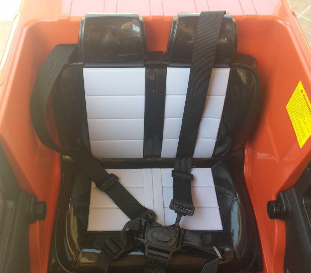 Todoterreno electrico para niños Land Rover Defender Naranja asiento