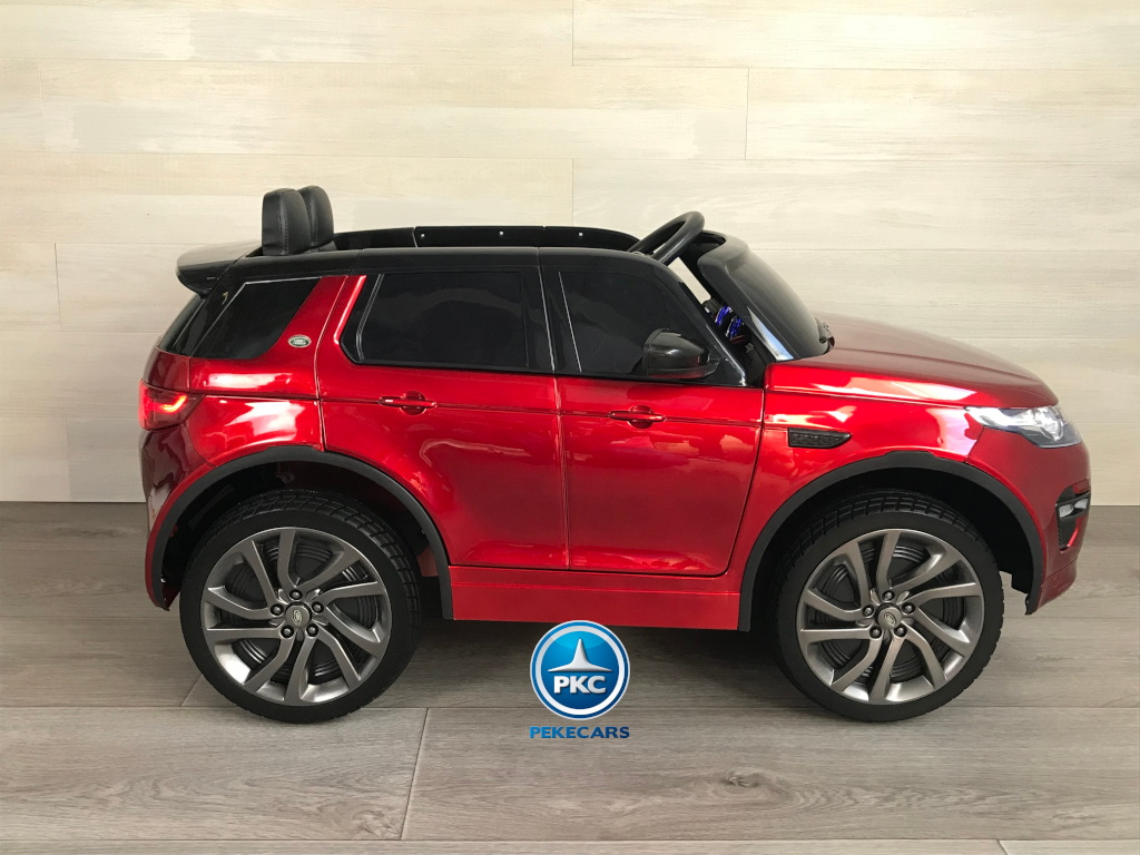 Coche electrico infantil Land Rover Discovery Rojo Metalizado width=