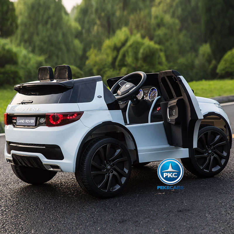 Coche electrico infantil Land Rover Discovery Blanco