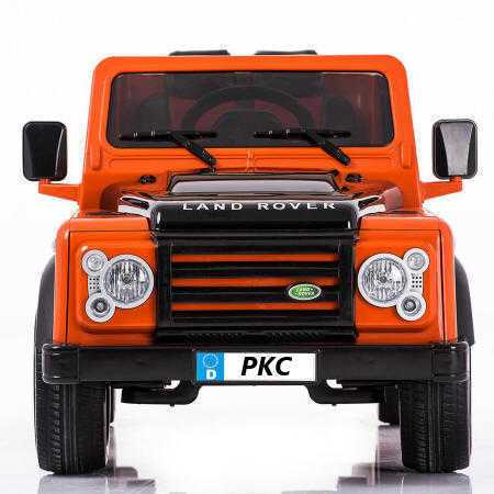 Todoterreno electrico para niños Land Rover Defender Naranja frontal