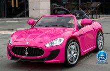 Maserati gran turismo para niños 12V 2.4G Rosa con radio FM