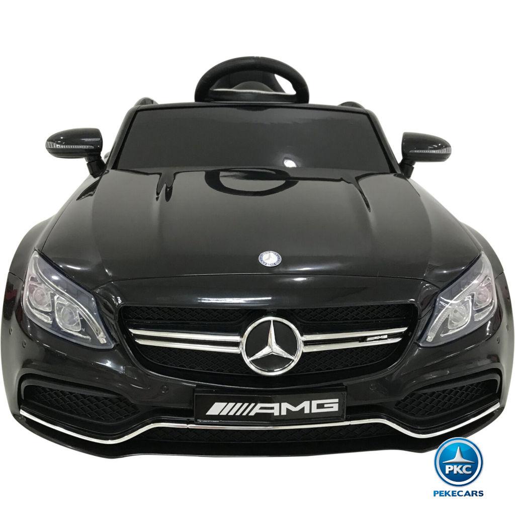 Coche electrico para niños Mercedes C63 Negro Metalizado