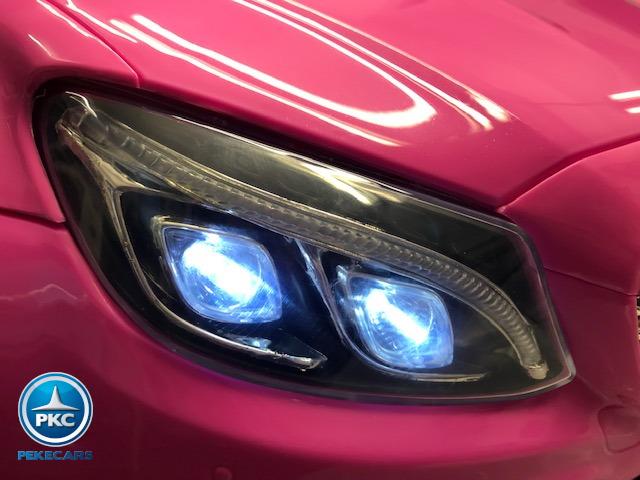 Coche electrico para niños Mercedes C63 Rosa