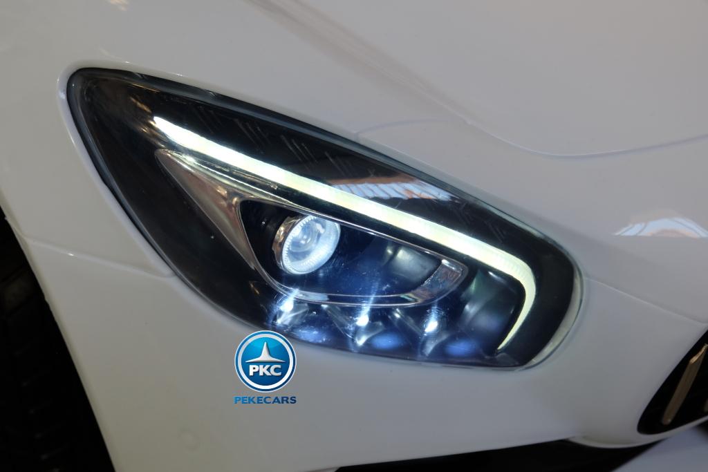 Coche electrico para niños Mercedes GTR 12V 2 Plazas Blanco