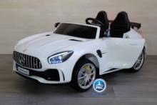 Coche electrico para niños Mercedes GTR 12V 2 Plazas Blanco vista principal