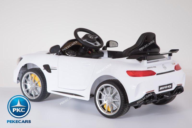Mercedes gtr Blanco Inforchess Perspectiva desde atrás