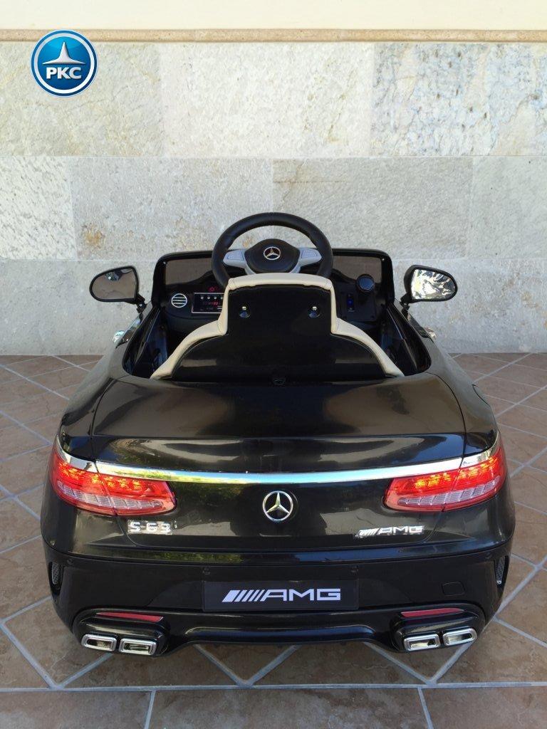 Inforcehss Outlet - Coche electrico para niños Mercedes S63 Negro 12