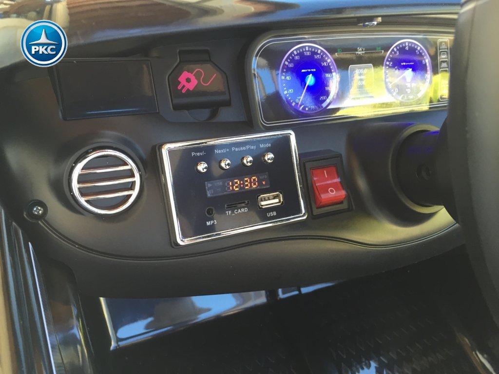 Inforcehss Outlet - Coche electrico para niños Mercedes S63 Negro 5