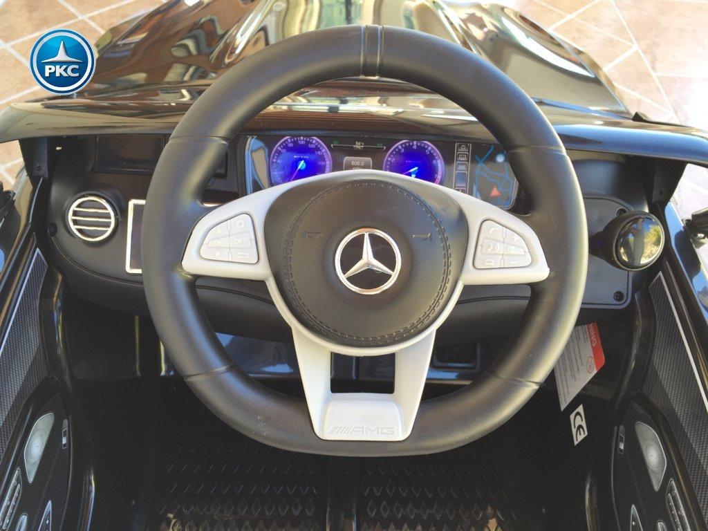 Inforcehss Outlet - Coche electrico para niños Mercedes S63 Negro 4