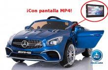 Mercedes Sl65 con pantalla mp4 azul metalizado