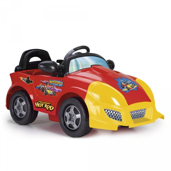 Coche electrico infantil Mickey Hot Rod 6V - Vista frontal
