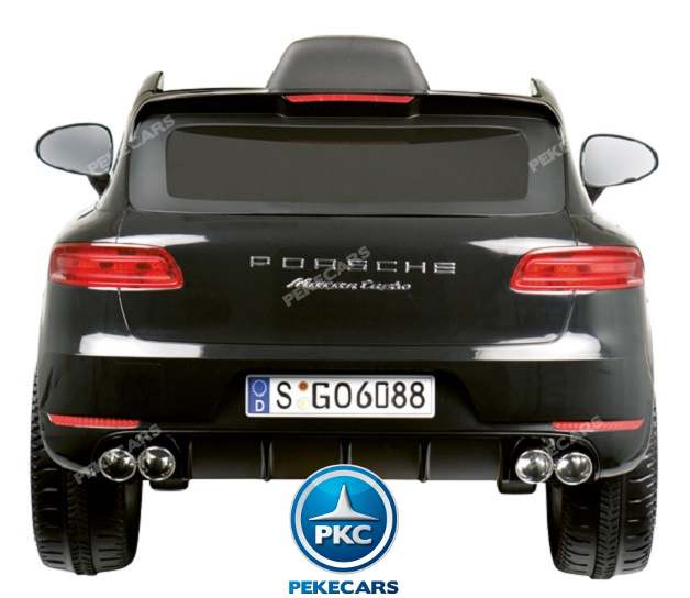 Coche electrico para niños Porsche Macan Negro 1