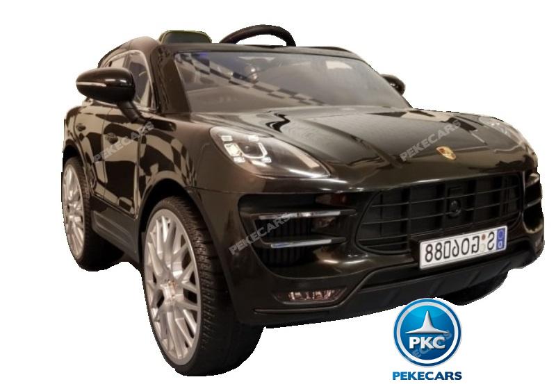 Coche electrico para niños Porsche Macan Negro 2