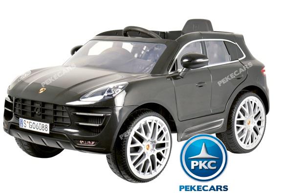 Coche electrico para niños Porsche Macan Negro 3