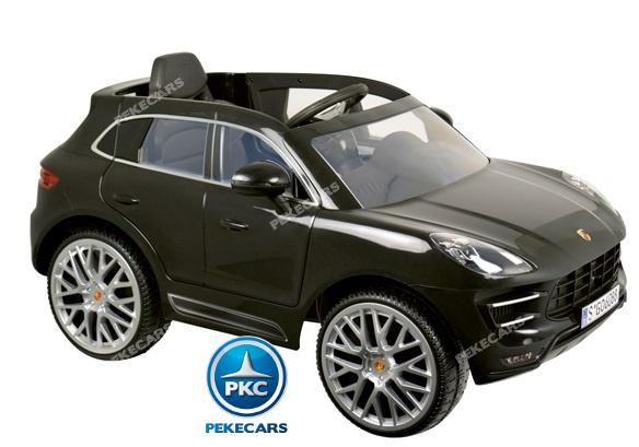 Coche electrico para niños Porsche Macan Negro 6