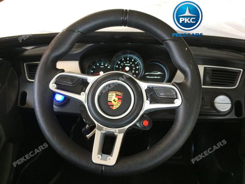 Coche electrico para niños Porsche Macan Negro 8