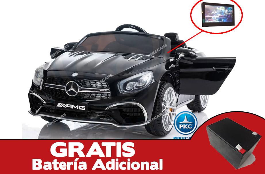 Mercedes SL65 con pantalla MP4 negro