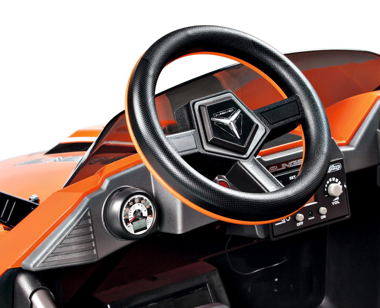 Coche Electrico Polaris 12V dos asientos volante con claxon