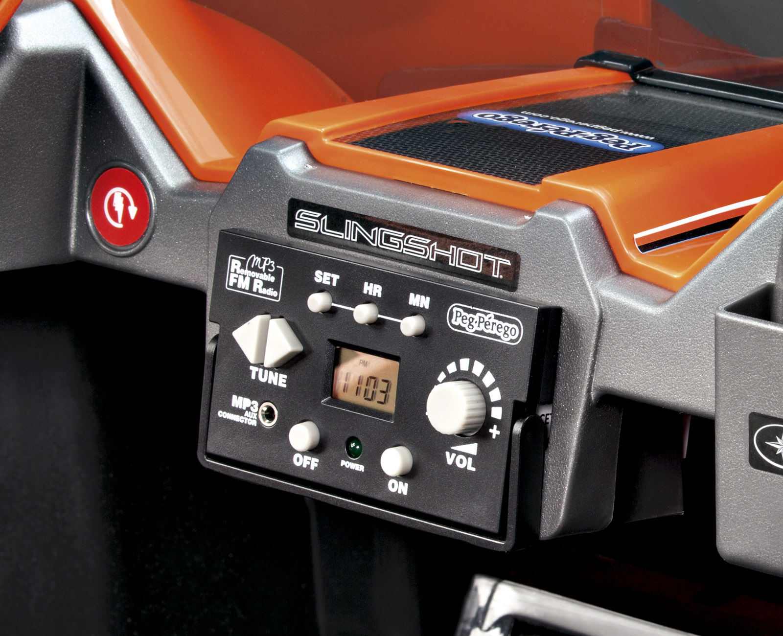 Coche Electrico Polaris 12V dos asientos con radio FM extraible