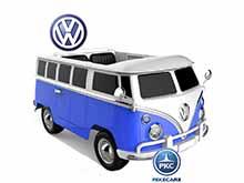 Furgoneta Volkswagen 12V 2.4G 2 plazas Azul