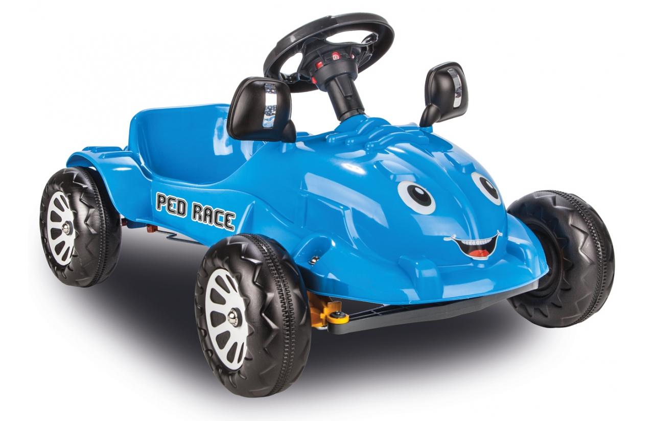 coche a pedales azul para niños width=