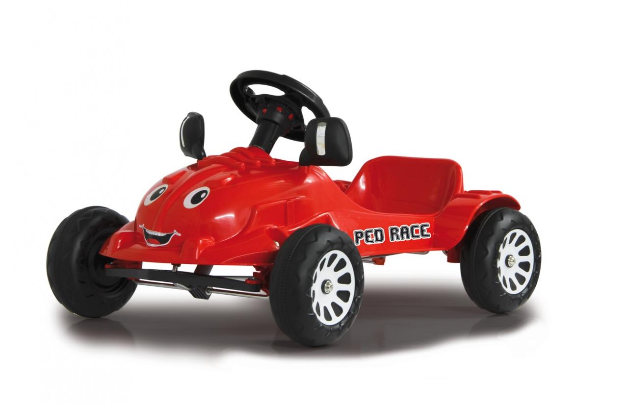 coche a pedales rojo