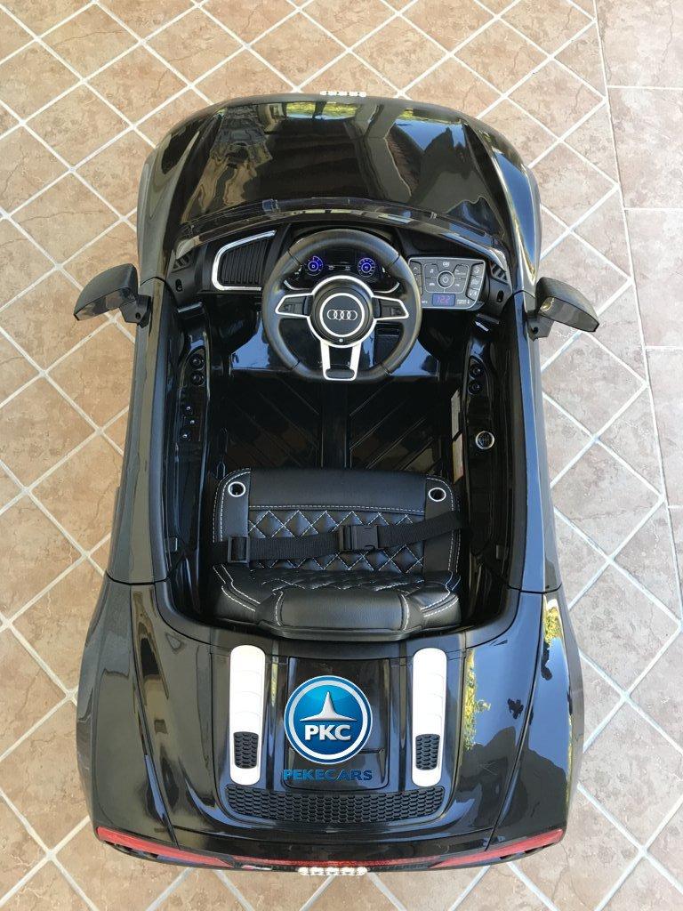 Audi R8 12V Spider para niños en color negro, vista aérea width=
