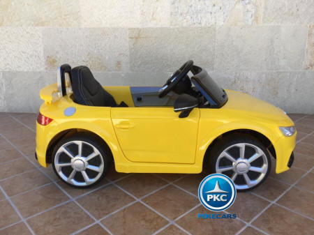 Coche Infantil Audi TT 12V color amarillo vista lateral