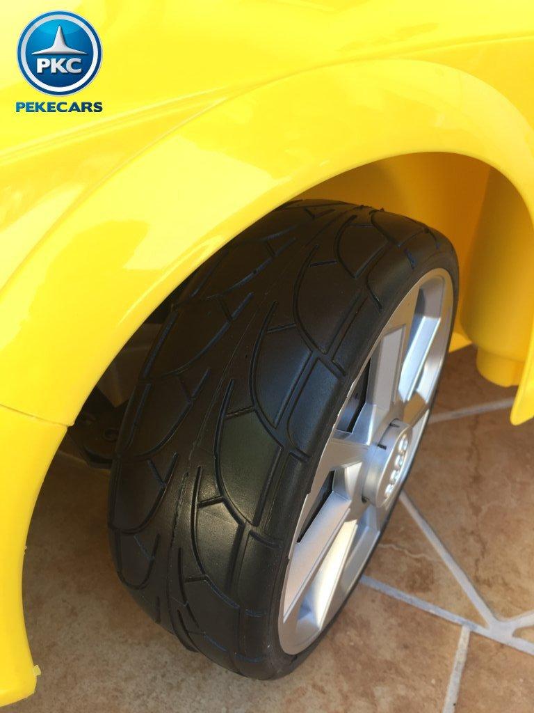 audi tt rs amarillo rueda