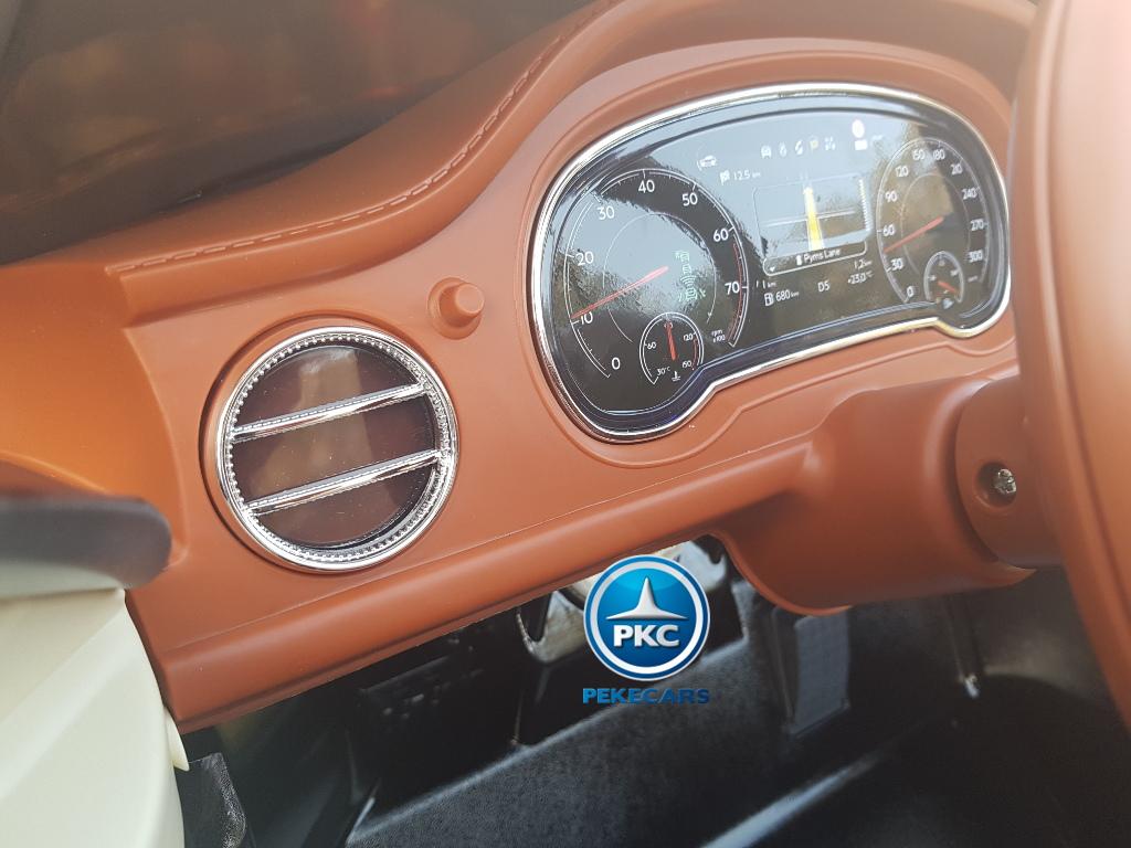 Bentley bentayga infantil 12V, vista panel dashboard delantero izquierdo