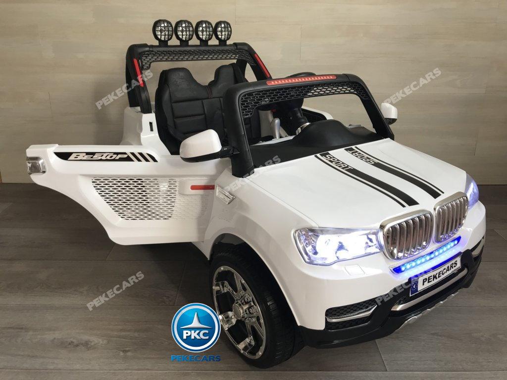 BMW X7 style 2 plazas blanco