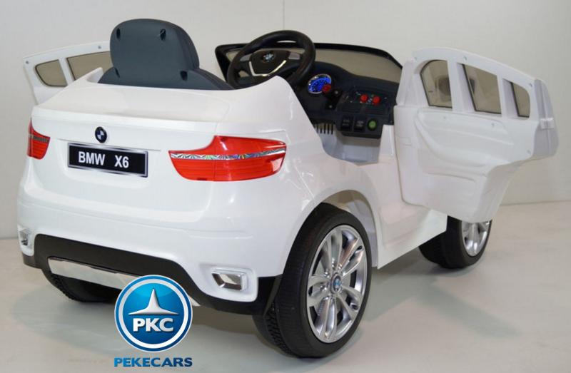 BMW X6 BLANCO LATERAL DERECHO TRASERA