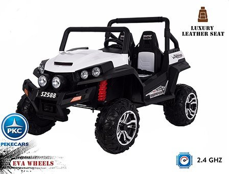 Buggy 4x4 12V 2 Plazas 2.4G color Blanco