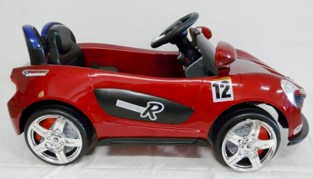 mi primer deportivo 6v rojo lateral derecho