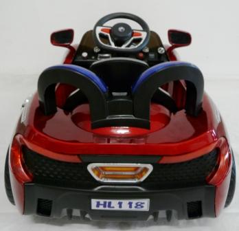 mi primer deportivo 6v rojo posterior